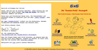 Strategie-Webseite 1998