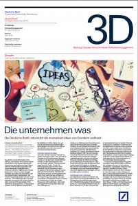 Deutsche Bank Newsletter, Seite 1